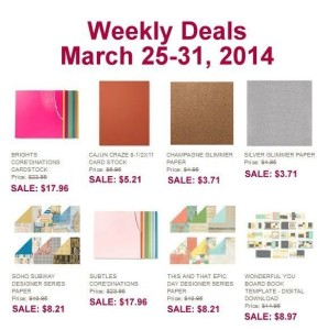 Weekly Deals March 25