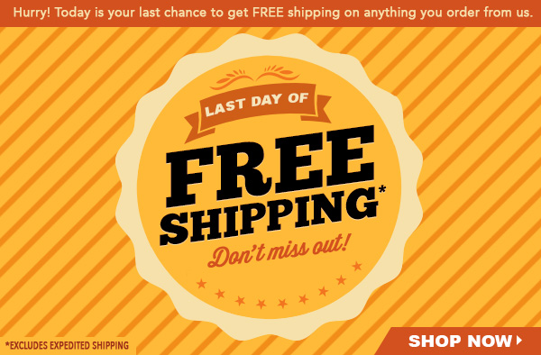 last day of free shipping